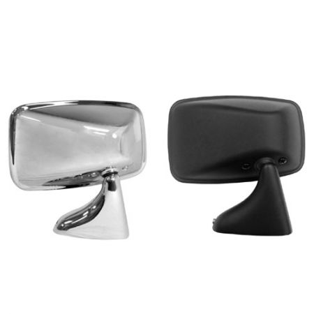 Tex Style Left Polished Steel Mirror for Volkswagen GOLF MK1 1975-83 - Tex Style Left Polished Steel Mirror for Volkswagen GOLF MK1 1975-83