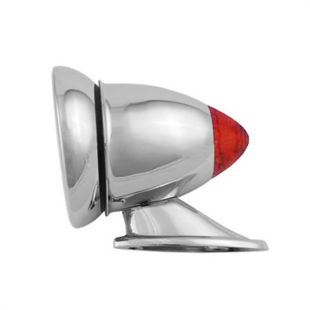 Chrome Bullet Racing Wing Mirror with LED Signal - Chrome Bullet Racing Wing Mirror with LED Signal