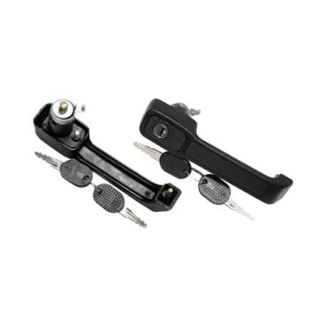 Exterior Front Right Door Handle with Keyhole for Fiat Uno