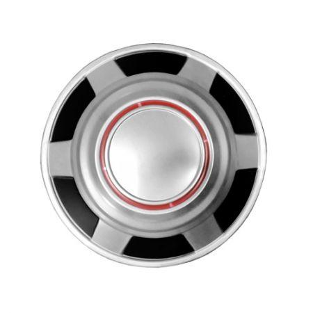 "Wheel Hub - 12"" Red Knockoff Hub Center Wheel Cap for GMC"