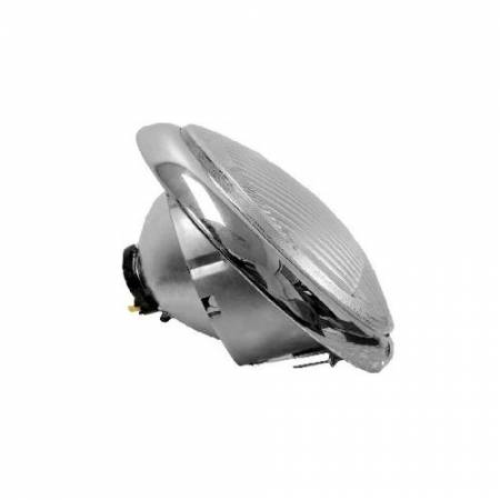 Headlight with Clear Lens for Porsche 356A, 356B, 356C 1950-64 - Headlight with Clear Lens for Porsche 356A, 356B, 356C 1950-64
