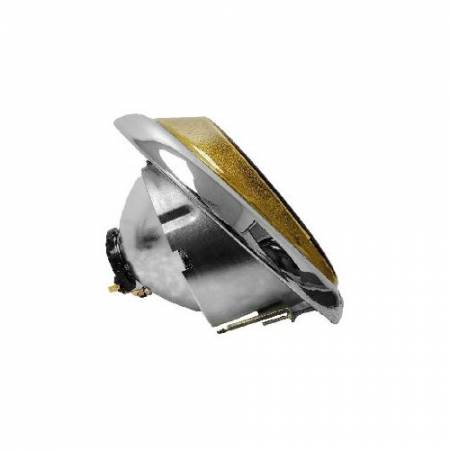 Headlight, Amber Lens, VW Beetle 1946-1966 - Headlight, Amber Lens, VW Beetle 1946-1966