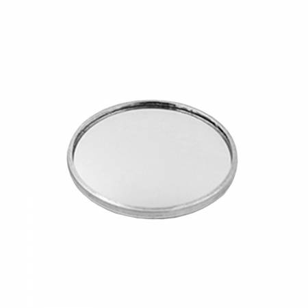 "Round Rear View Blind Spot Wide Angle Stick-on Mirror 1"" for Universal - Round Rear View Blind Spot Wide Angle Stick-on Mirror 1"", Convex, Aluminum, Universal"