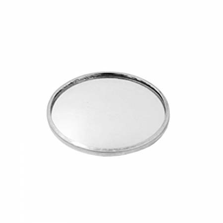 "Round Rear View Blind Spot Wide Angle Stick-on Mirror 2"" for Universal - Round Rear View Blind Spot Wide Angle Stick-on Mirror 2"", Convex, Aluminum, Universal"