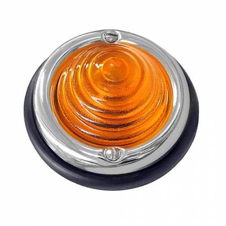 Drej Signal Bikube Light Assembly Amber Lens, Porsche 356 1950-1955, 356A 1955-1957 - Drej Signal Bikube Light Assembly Amber Lens, Porsche 356 1950-1955, 356A 1955-1957