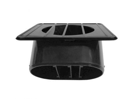Left Black Inside Dash Defroster Vent Duct for GM GMC/ Chevy Truck 1967-72 - Left Black Inside Dash Defroster Vent Duct for GM GMC/ Chevy Truck 1967-72