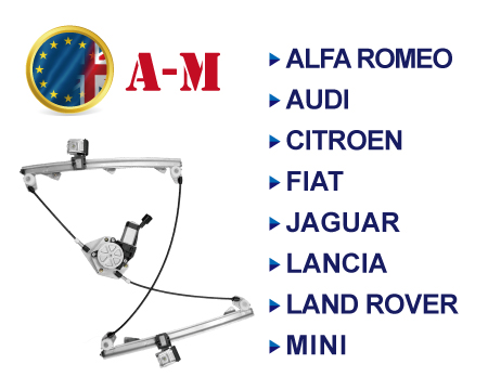 European Brands Window Regulator A-M - European Brands Window Regulator
