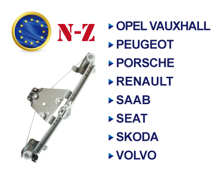 European Brands Window Regulator N-Z - European Brands Window Regulator