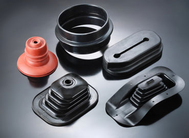 Rubber Molding and Extrusion - Automotive rubber part examples.