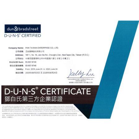 D-U-N-S Registered Certificate