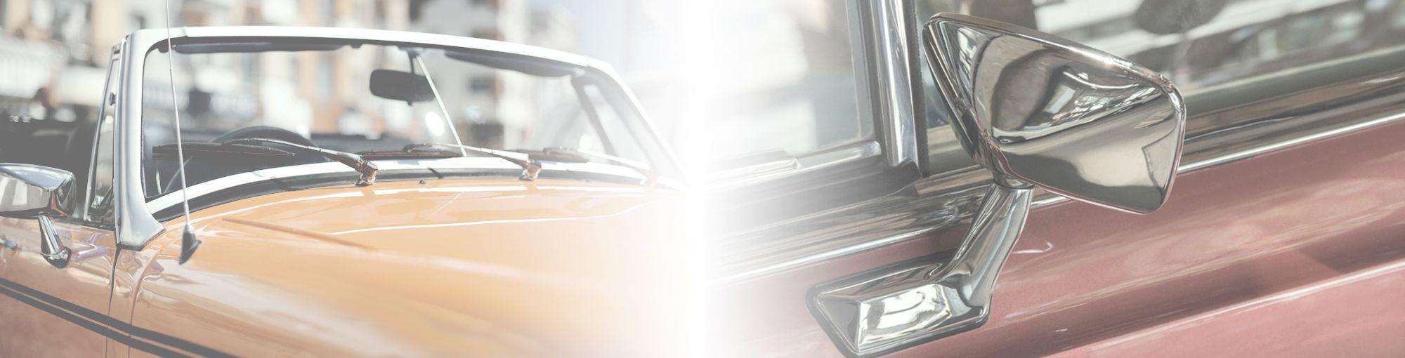 Vindusviskere og speil i klassisk bil
