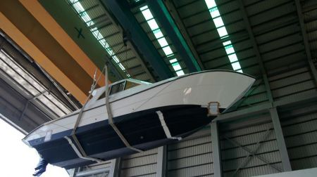 Sunshine-32-foot enclosed wheelhouse yacht the launch of the new ship