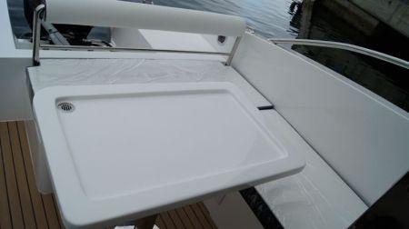Yate con caseta de timón cerrada Sunshine-32 pies el área de pasajeros (2)