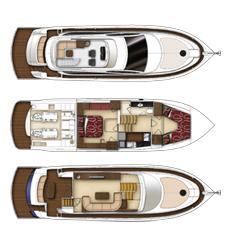 56 Fuß Sportbridge Yacht (Plan A)