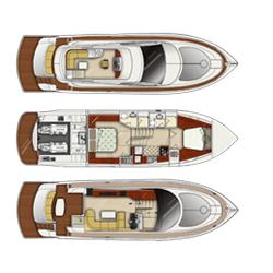 56 Fuß Sportbridge Yacht (Plan B)