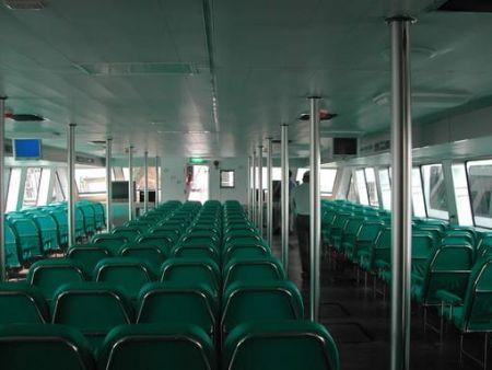 199GT FRP Catamaran Passenger cabin