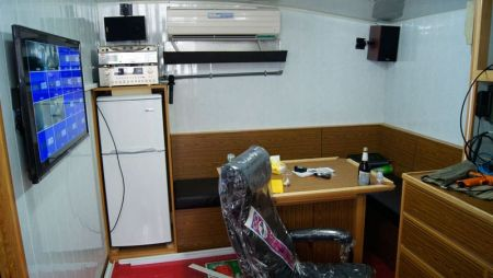 380GT Tuna Long Liner Boat Captain's Room