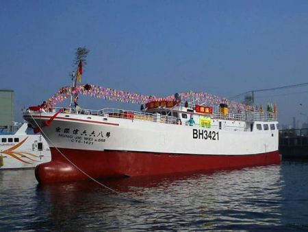 380GT Tuna Long Liner Boat Exterior