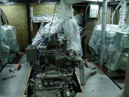 380GT Tuna Long Liner Boat main engine