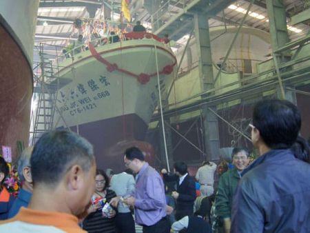 380GT Thunfisch Long Liner Boot Zeremonie zum Stapellauf des neuen Bootes