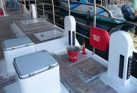 Convés superior do navio de passageiros de turismo submarino 19GT FRP (2)