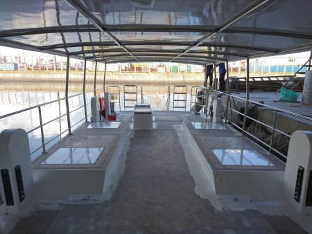 Convés superior do navio de passageiros de turismo submarino 19GT FRP (3)
