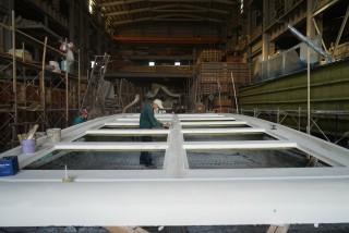 20GT FRP Diesel-electric catamaran passenger ship Ceiling construction