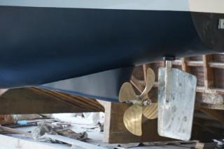 20GT FRP Diesel-electric catamaran passenger ship Rudder system construction