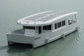 20GT FRP Diesel-electric catamaran passenger ship Hull appearance