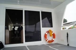20GT FRP Diesel-electric catamaran passenger ship Cabin entrance(3)