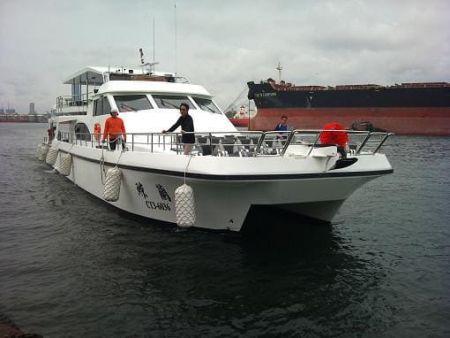 49GT FRP Catamaran passenger ship Outside View