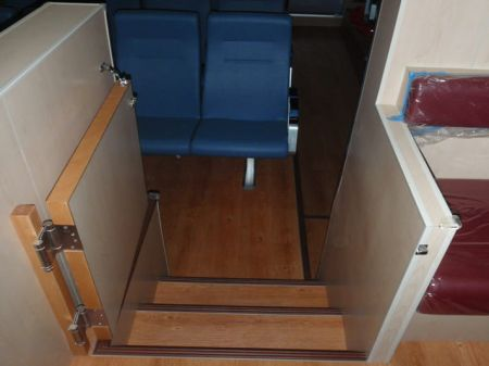 49GT FRP Catamaran passenger ship Up and down the cabin stairs