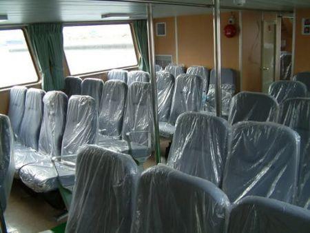 80GT FRP Cargo Passenger Boat Passenger Room