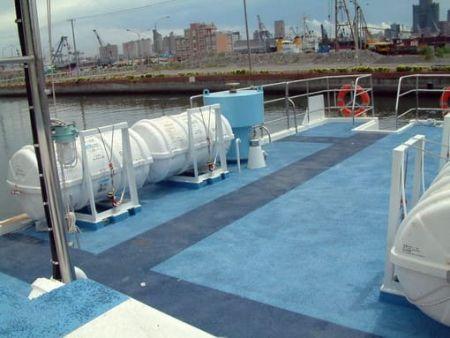 80GT FRP Cargo Passenger Boat Upper Deck