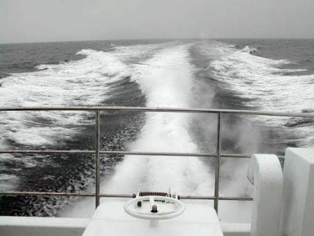 80GT FRP Cargo Passenger Boat Sea trial