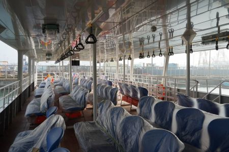 87GT Steel Oil and electric Ferry passenger ship Upper cabin
