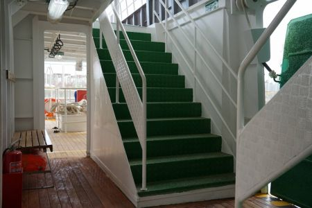 87GT SteelOil and electric Ferry passenger ship Upper and lower deck stairs(1)