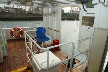 87GT Steel Oil and electric Ferry passenger ship Crew work area