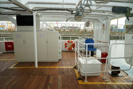 87GT Steel Oil and electric Ferry passenger ship Aft main deck