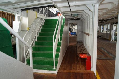 87GT Steel Oil and electric Ferry passenger ship Lower deck access