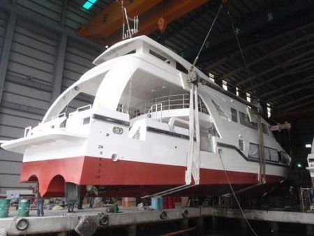 99GT Ferry passenger ship Launch of the new ship