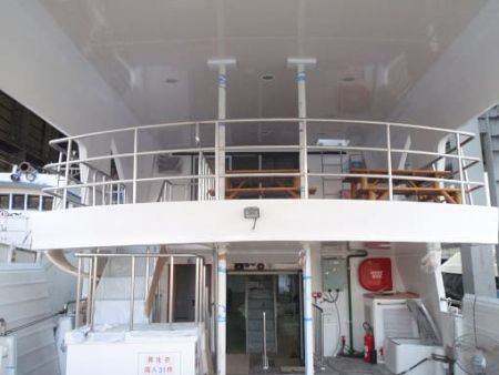 Área de descanso de passageiros do convés de popa do navio de passageiros da balsa 99GT