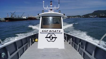 38ft FRP Sealion fishing boat Cab appearance