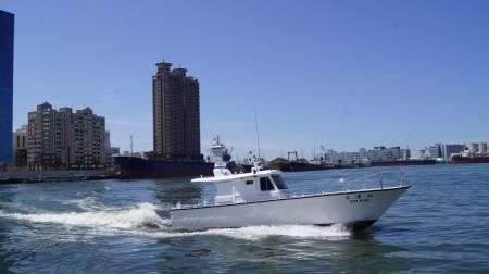 38ft FRP Sealion fishing boat In-port test run(3)
