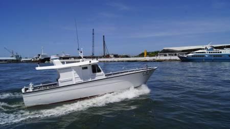 38ft FRP Sealion fishing boat In-port test run(5)
