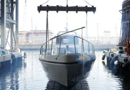 48ft FRP Sealion fishing boat Launch of the new ship