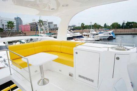 56 Fuß Sportbridge Yacht der Oberdecksalon (2)