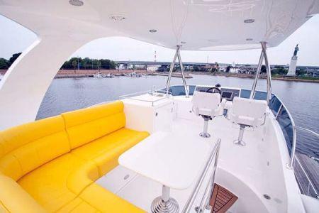 56 Fuß Sportbridge Yacht der Oberdecksalon (1)