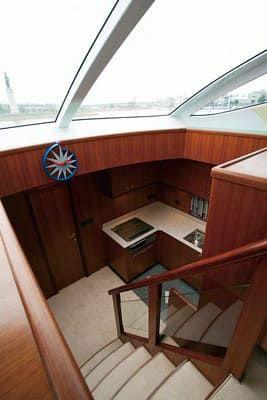 56 Fuß Sportbridge Yacht die obere und untere Decktreppe
