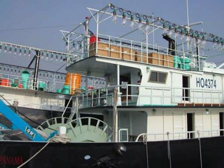 Thuyền đánh cá ngọn đuốc 100GT Nhóm đèn thu thập cá và thiết bị đánh lưới